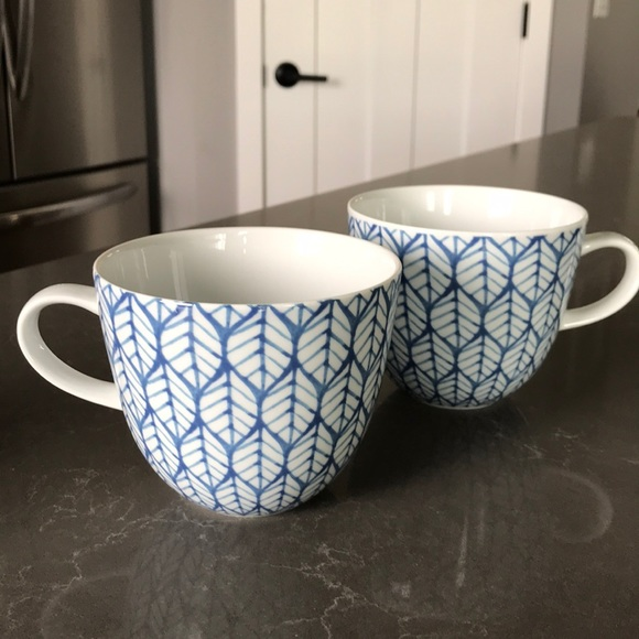 Made in Portugal Blue and White Bambeco Mugs EUC